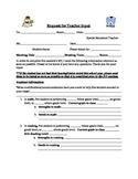 Request for Teacher Input