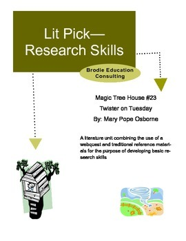 Research Lit Picks: Magic Tree House Twister on Tuesday