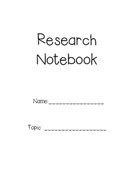 Research Notebook