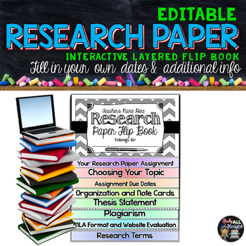RESEARCH PAPER WRITING EDITABLE FLIP BOOK FOR MIDDLE SCHOO