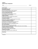 Research Paper Grading Rubric