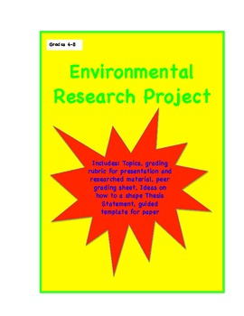 Research Project: Environment