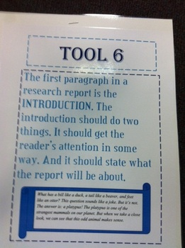 """Research Report Posters-Using """"Just the Facts-Writing Your"""