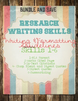 Research Skills BUNDLE AND SAVE!