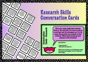 Research Skills Conversation Cards - Plagiarism Copyright