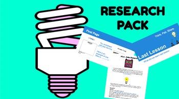 Research Skills Project Multi-lesson unit - adaptable