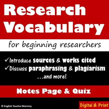 Research Vocabulary