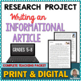 Research Project: Writing an Informational Article