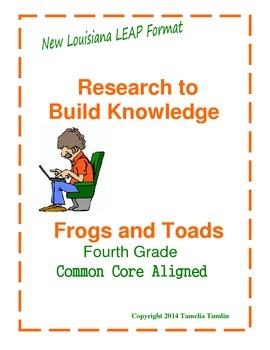 Research to Build Knowledge  Common Core Aligned (Frogs an