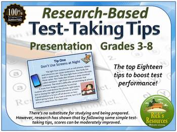 Test Prep Tips and Strategies Based on Research Presentation