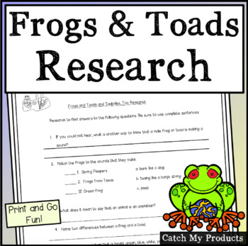 Researching Frogs and Toads
