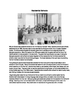 Residential Schools (Native Studies / Canadian History)