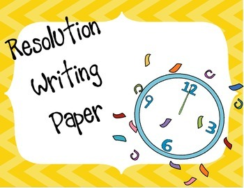 Resolution Writing Paper