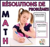 Résolutions de problèmes à plusieurs étapes  -  French Wor