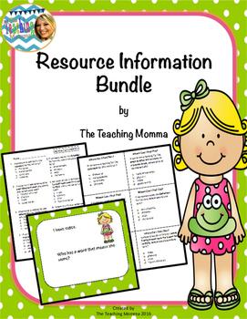 Resource Materials Bundle
