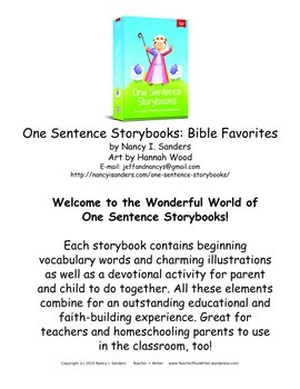 Resource Packet to use with One Sentence Storybooks: Bible