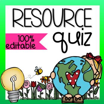 Resource Quiz