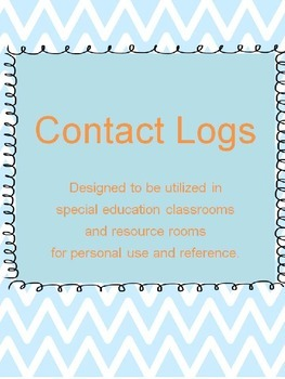 Resource Room Contact Communication Logs