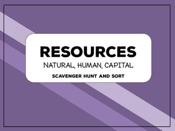 Resources: Scavenger Hunt & Sort Activity