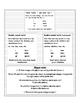 Regular/irregular preterite quick-reference chart