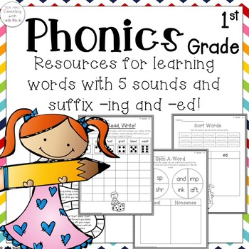 Resources for learning words with 5 sounds & the suffixes