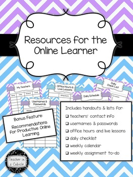 Resources for the Online Learner (Purple & Blue Chevron)