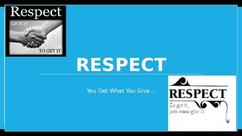 Respect Character Education Ed Lesson w 8 Video Links & 4