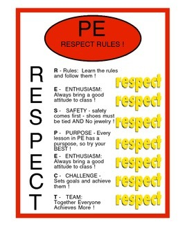 Physical Education - Respect Relay - Character Development in PE
