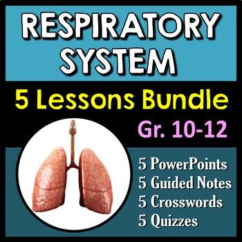 Respiratory System Bundle - 5 Complete Interactive PowerPo