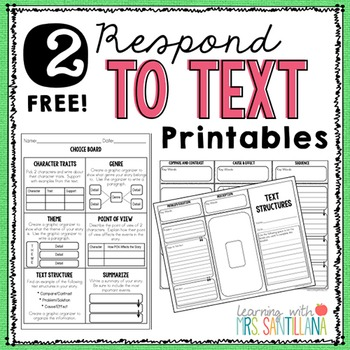 Respond to Text Freebie