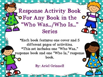 "Response Activity Book for Any Book in the ""Who Was..../Wh"