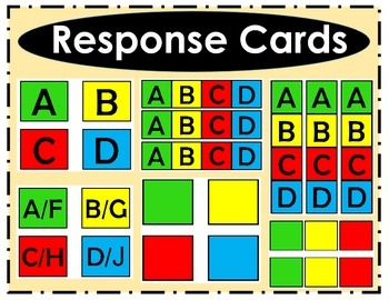Simple Student Response Cards