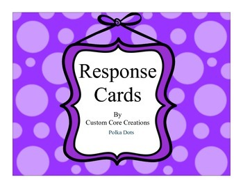 Response Task Cards