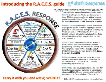 Opinion \ Response Writing Guide - R.A.C.E.S. a Step-by-St