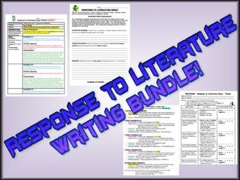 Response to Literature Essay Writing - BUNDLE!