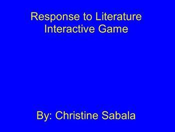 Response to Literature Interactive Game