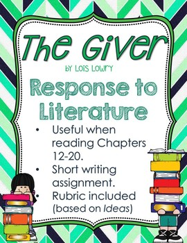 Response to Literature Prompt for The Giver
