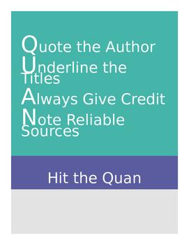 Response to Literature: Quan
