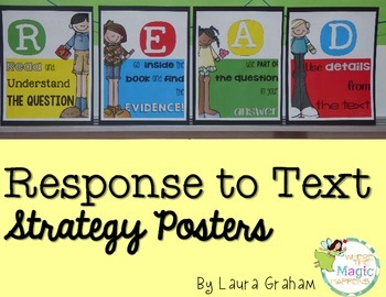 Response to Text Strategy Posters