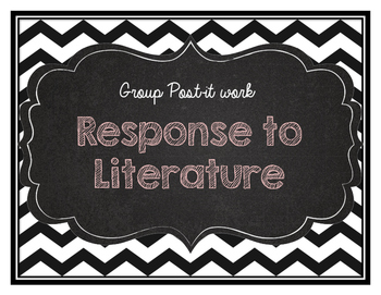 Response to literature post it sheet