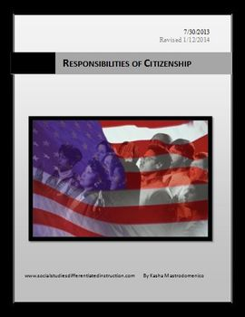 Responsibilities of Citizenship Differentiated Instruction