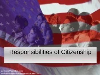 Responsibilities of Citizenship PowerPoint