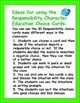 Responsibility Choice Cards - Character Education
