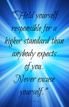 Responsibility Quote 11x17 Classroom Poster Motivation Cha