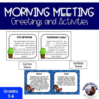 Responsive Classroom: Greetings and Activities for Morning
