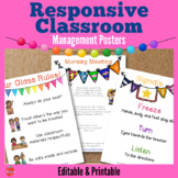 Responsive Classroom Management Posters: Morning Meeting,