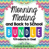 Morning Meeting and Back to School BUNDLE! {9 Products in One!}