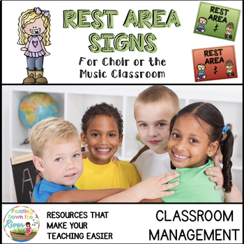 FREEBIE Rest Area Music Signs for Positive Classroom Management
