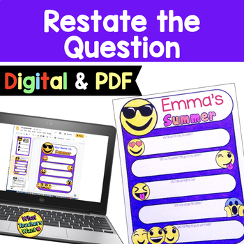 Restate the Question Emoji Style (Summer)- Free