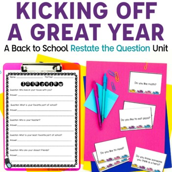 Restating the Question: An Introduction through Oral Language